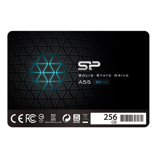Silicon Power 256GB SSD 3D NAND A55 SLC Cache Performance Boost SATA III 2.5 7mm (0.28) Internal Solid State Drive (SP256GBSS3A55S25)