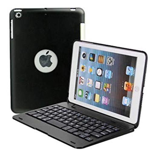 Cwnotbhy Ipad Mini 3/2/1 Keyboard Case Cover, Kids Bluetooth Keyboard Folio Flip Smart Cover with Folding Stand and Auto Sleep/Wake Function (Black)