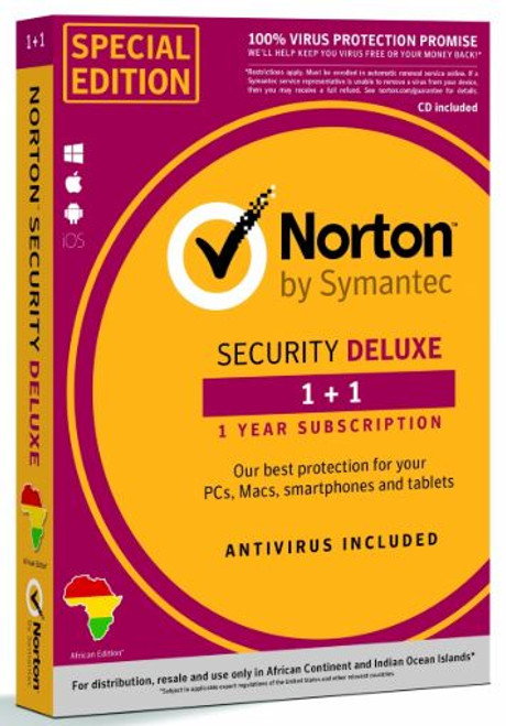 NORTON 360 DELUXE 1+1 DEVICE 25GB CLOUD BACKUP 1 YEAR SUB