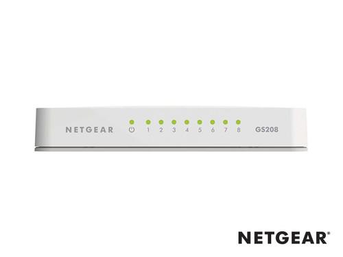 Netgear GS208 8 Port Gigabit Unmanaged Desktop Switch