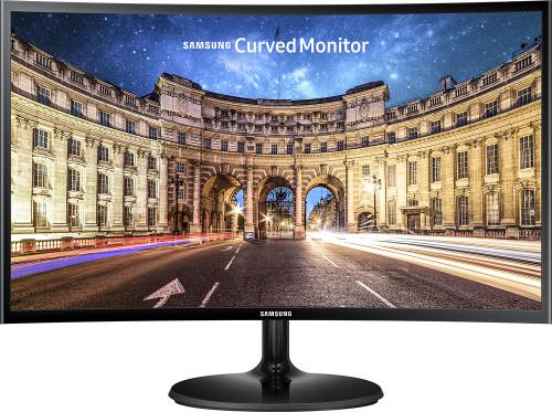 """Samsung 24"""" Full HD CF390 Curved LED Monitor, 60Hz, 4ms, Glossy black, ultra-slim design, FreeSync *2 Yrs Warranty*"""