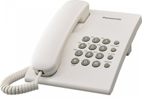 PANASONIC KX-TS500FXW Corded phone, white - 2 Years Warranty