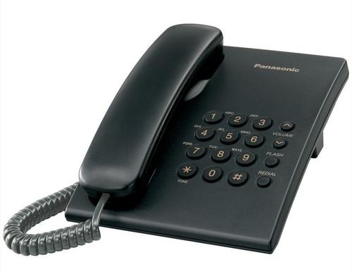 PANASONIC KX-TS500FXB Corded phone, Black - 2 Years Warranty