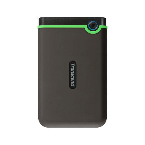 Transcend USB 3.1 Gen 1 StoreJet Rugged External Portable Hard Drive TS1TSJ25M3S USB3.1 Iron Gray (Slim)