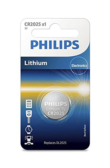 Philips Lithium 3V Button Cell Battery CR2025