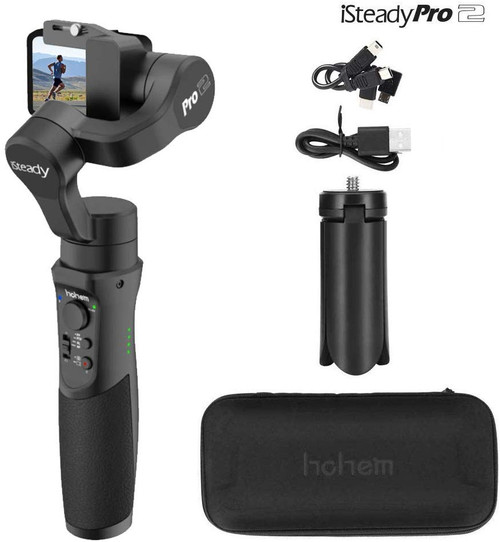 Hohem iSteady Pro 2, 3-Axis Splash Proof Gimbal Stabilizer for Action Camera
