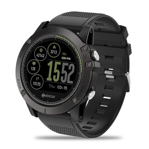 Zeblaze Vie 3HR SMART FITNESS WATCH, IP67 Waterproof, Heart Rate Monitor, IPS Color Display (Black) - 6 Months Warranty