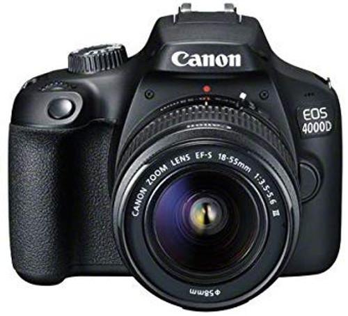 Canon EOS 4000D Black + EF-S 18-55mm III Lens + Bag + SD Card