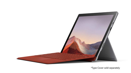 """Microsoft Surface Pro 7: 10th Gen i5-1035G1, 8GB RAM, 128GB SSD, 12.3"""" PixelSenseTouch (2736x1824) Platinum Color, Includes Black Type Cover (Latest Model)"""