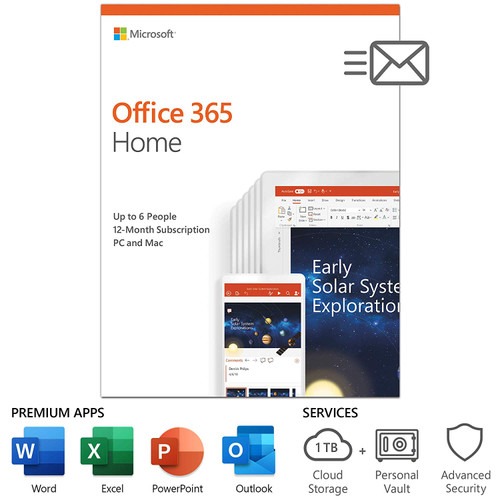 Microsoft 365 Family All Language 1-Year Subscription (PC and Mac)