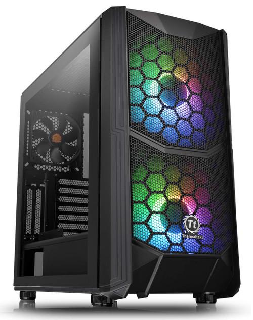 Thermaltake Commander C35 ATX Mid Tower Computer Case, Tempered Glass, ARGB, Black
