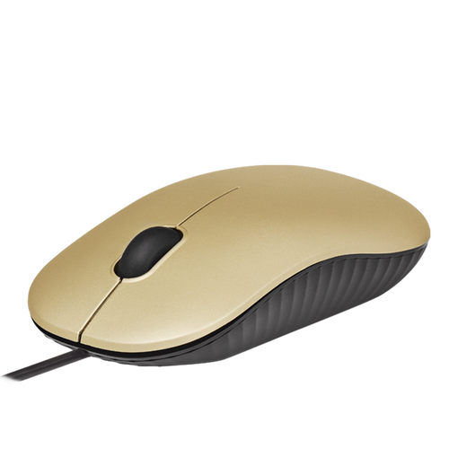 PROLiNK PMC1007-CPG USB Optical Mouse (1200dpi/3-button) - Champagne