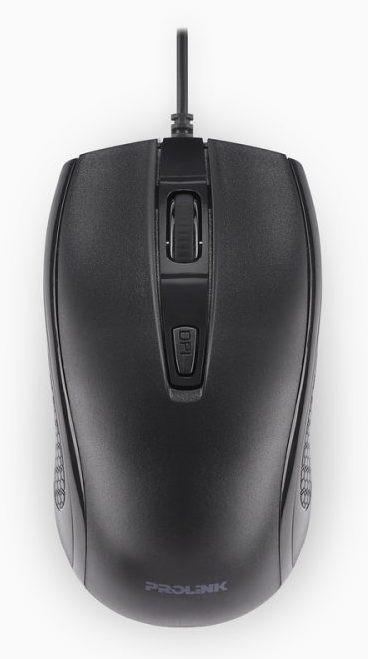 PROLiNK PMC2002-BLK High-Definition USB Optical Mouse (1600dpi/4-button) - Black