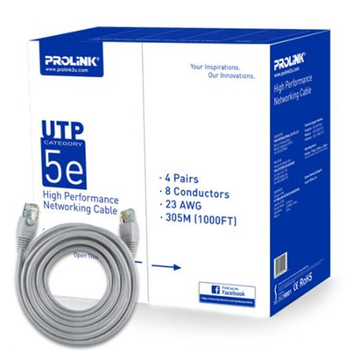 PROLiNK CAT 5E- GRY UTP Network Cable