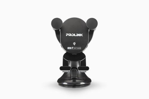 PROLiNK PQC1006 5/7.5/10W Fast Charge Qi Wireless Charging Car Mount / Type-C USB