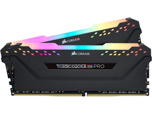 Corsair Vengeance RGB Pro 8GB DDR4-3200 PC4-25600 CL16 Dual Channel Desktop Memory Black