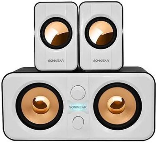 SonicGear Morro 2200 2.1 USB Speakers - White (MORRO2200W)