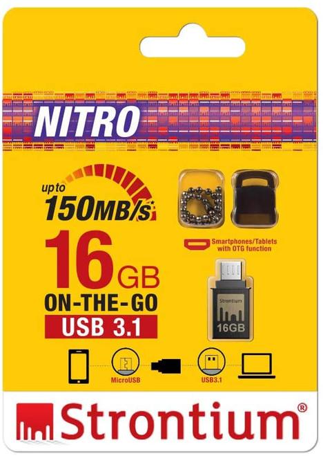 STRONTIUM 16GB OTG NITRO USB 3.1/150mb/s