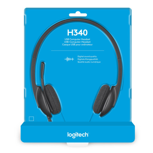 Logitech H340 USB PC Headset with Noise-Cancelling Mic