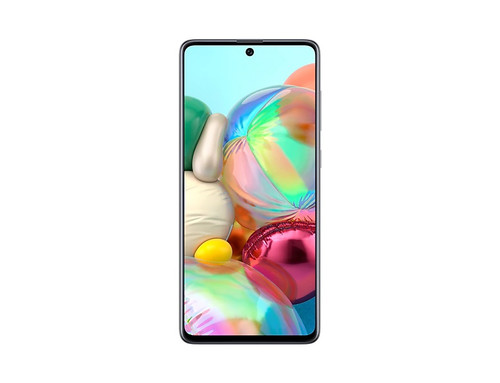 """SAMSUNG A71, 6.7"""" Super AMOLED Display, Quad Rear camera 64MP+12MP+5MP+5MP, Front: 32 MP, Qualcomm Octa-core 2.2GHz, 1.8GHz, Android 10.0, 6GB RAM + 128GB Internal Storage, Battery 4500mAh"""