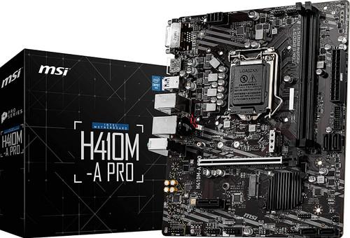 MSI H410M-A PRO ProSeries Motherboard (mATX, 10th Gen Intel Core, LGA 1200 Socket, DDR4, M.2 Slot, USB 3.2 Gen 1, 2.5G LAN, DVI/HDMI)