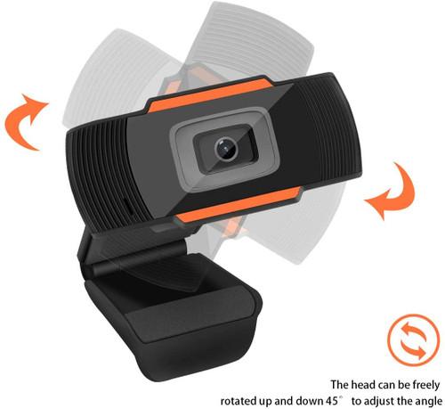 Webcam U35 HD Webcam Desktop Laptop Web Camera 720P Web Cam CMOS Sensor with Built-in Microphone for video calling, Zoom, Facebook, Video Conference, Skype