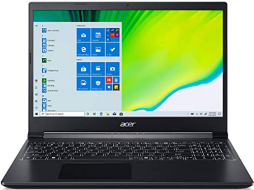 "Acer Aspire 7 Laptop, 15.6"" Full HD IPS Display, AMD Ryzen 5 3550H, NVIDIA GeForce GTX 1650, 8GB DDR4, 512GB NVMe SSD, Backlit Keyboard, Windows 10 Home,"