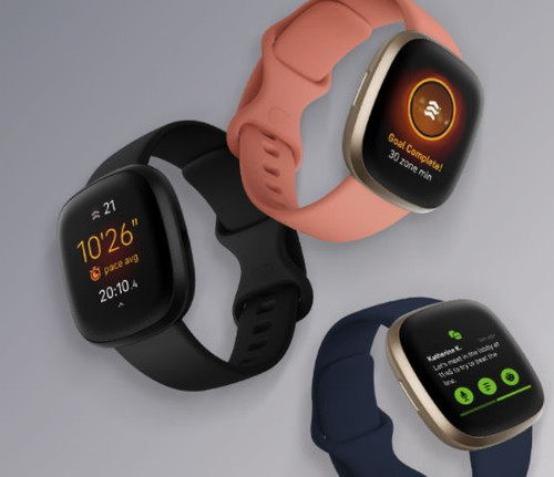 Fitbit Versa 3 Health & Fitness Smartwatch with GPS, Alexa Built-in, 24/7 Heart Rate, Alexa Built-in, 6+ Days Battery, One Size (S & L Bands Included)
