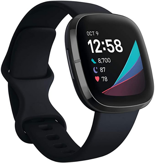 Fitbit Sense Advanced Smartwatch with Tools for Heart Health, Stress Management & Skin Temperature Trends, Alexa Built-in, One Size (S & L Bands Included)