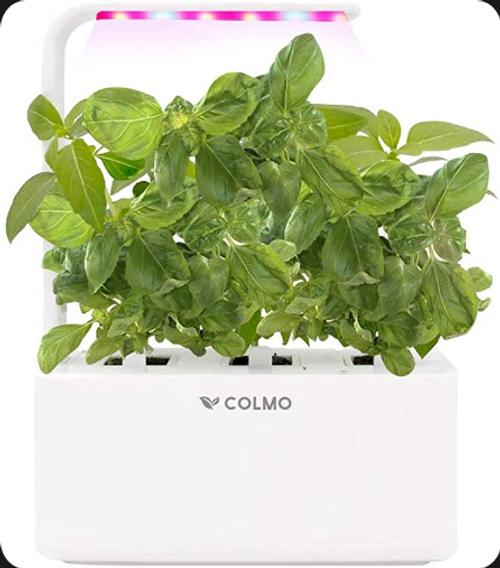 COLMO Indoor Herb Garden Kit with LED Spectrum Hydroponic Herb Garden Kit Garden Planter in Home Smart windowsill Herbs Veggies Planter