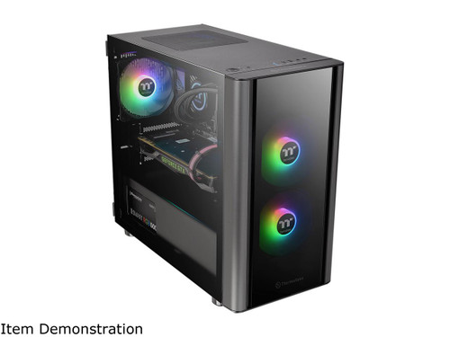 Thermaltake V150 Tempered Glass Micro-ATX Mini Tower Gaming Computer Case with One 120mm Rear Fan Pre-Installed, CA-1R1-00S1WN-00