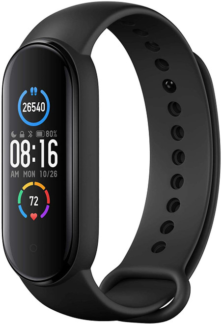 Xiaomi Mi Band 5 Smart Wristband 1.1 inch Color Screen Miband with Magnetic Charging 11 Sports Modes Remote Camera Bluetooth 5.0 Global Version - Black