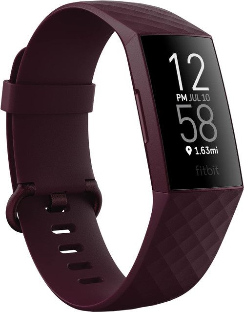 Fitbit Charge 4 Fitness and Activity Tracker with Built-in GPS, Heart Rate, Sleep & Swim Tracking, Rosewood/Rosewood, One Size (S &L Bands Included)