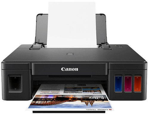 Canon PIXMA G1411, Single Function continuous ink supply system, Borderless printing, 100 sheets paper supply, USB