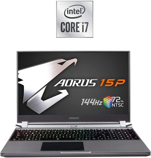 AORUS 15P (KB) Thin and Light Performance Gaming Laptop, 15.6-inch FHD 144Hz IPS, GeForce RTX 2060, 10th Gen Intel i7-10750H, 16GB DDR4, 512GB NVMe SSD