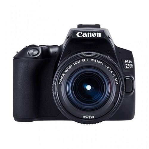 Canon EOS 250D Essential Travel Kit (Bag + 16GB Memory Card), 24.1MP, Bluetooth, Wi-Fi, Dual Pixel CMOS AF