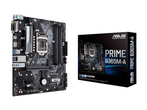 Asus Prime B365M-A LGA-1151 Support 9th/8th Gen Intel Processor with Aura Sync RGB Header, DDR4 2666MHz, M.2 Support, HDMI, SATA 6Gbps mATX Motherboard