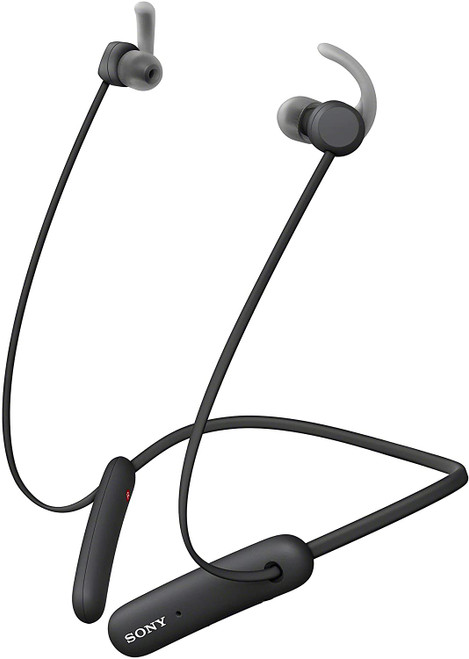 Sony WI-SP510 Extra BASS Wireless in-Ear Headset/Headphones with mic for Phone Call Sports IPX5 Bluetooth, Black (WISP510/B)