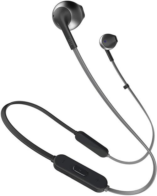 JBL T205BT Pure Bass Wireless Metal Earbud Headphones with Mic Black