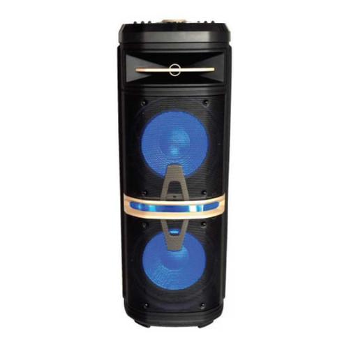 Suzuki Time MSPK8800. Bluetooth Trolley Speaker. 2X10 Inch. Wireless Microphone. Aux, Mic & Guitar input. RMS 120W. Bluetooth/USB/FM RADIO