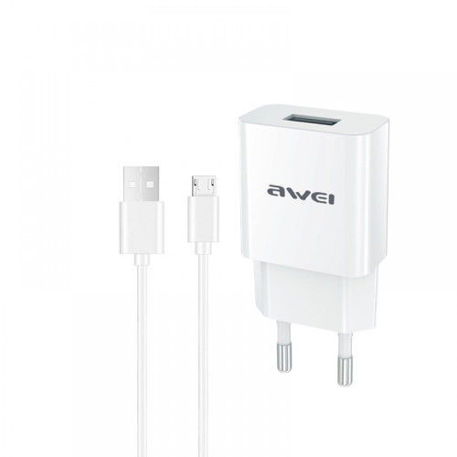 Awei C-831 charger adapter with Type-C data cable for android