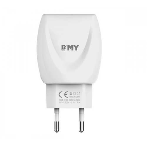 EMY MY-221 High Quality Fast 2.4A Dual USB 2.4 A Multiport Mobile Charger