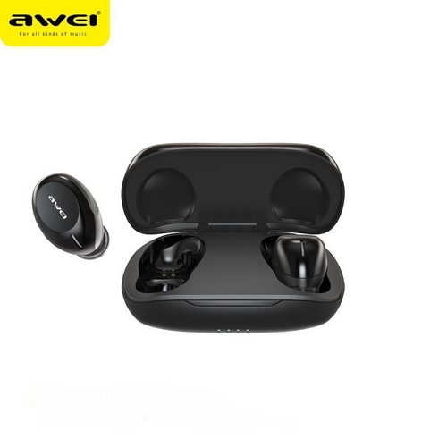 Awei T20 True Wireless Sports Earbuds with charging case