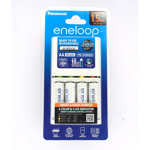 Panasonic Eneloop Smart Charger AA 2000MAH 4 Cells