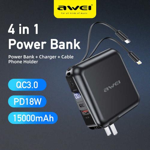 Awei P48K 15000 mah Portable Multifunction Power Bank