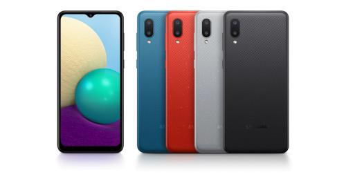 "Samsung Galaxy A02 SM-A022/F DS 2GB Ram, 32GB Storage, 6.5"" IPS Screen, Quad-core 1.5 GHz, Dual Camera 13 MP, f/1.9, (wide), AF 2 MP, f/2.4, (macro), Selfie Camera 5 MP, f/2.0 **2 Years Warranty**"