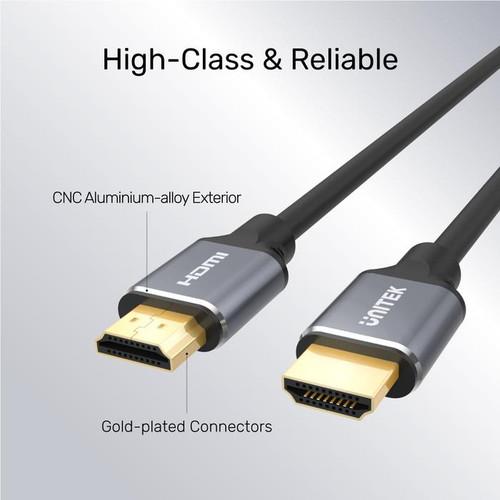 UNITEK C139W 3M HDMI 2.1 Male to Male Cable (8K 60Hz), Space Grey + Black, Gift Box