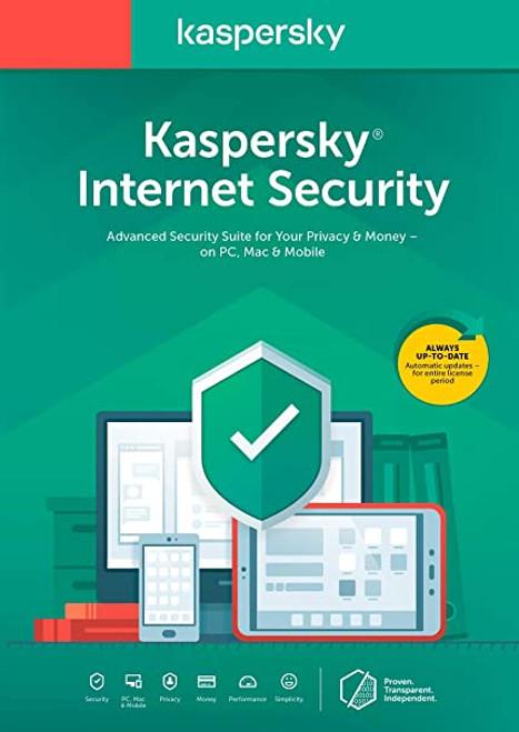 Kaspersky 2020 Internet Security 1 year DVD
