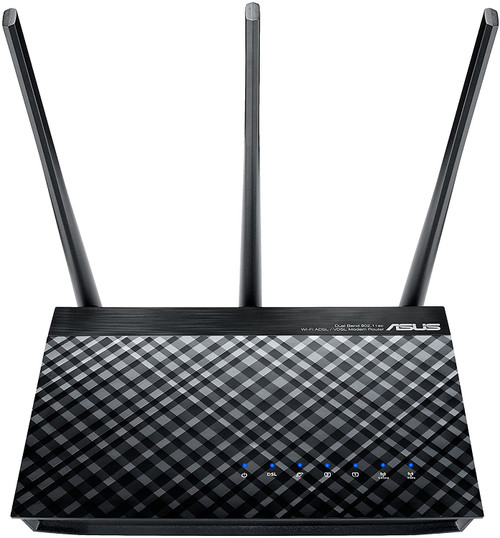 Asus RT-AC53 AC750 Dual Band WiFi Router with high power design, VPN server and time scheduling
