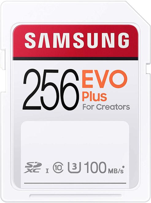 SAMSUNG EVO Plus SDXC Full Size SD Card 256GB (MB SC256H) (MB-SC256H/AM)